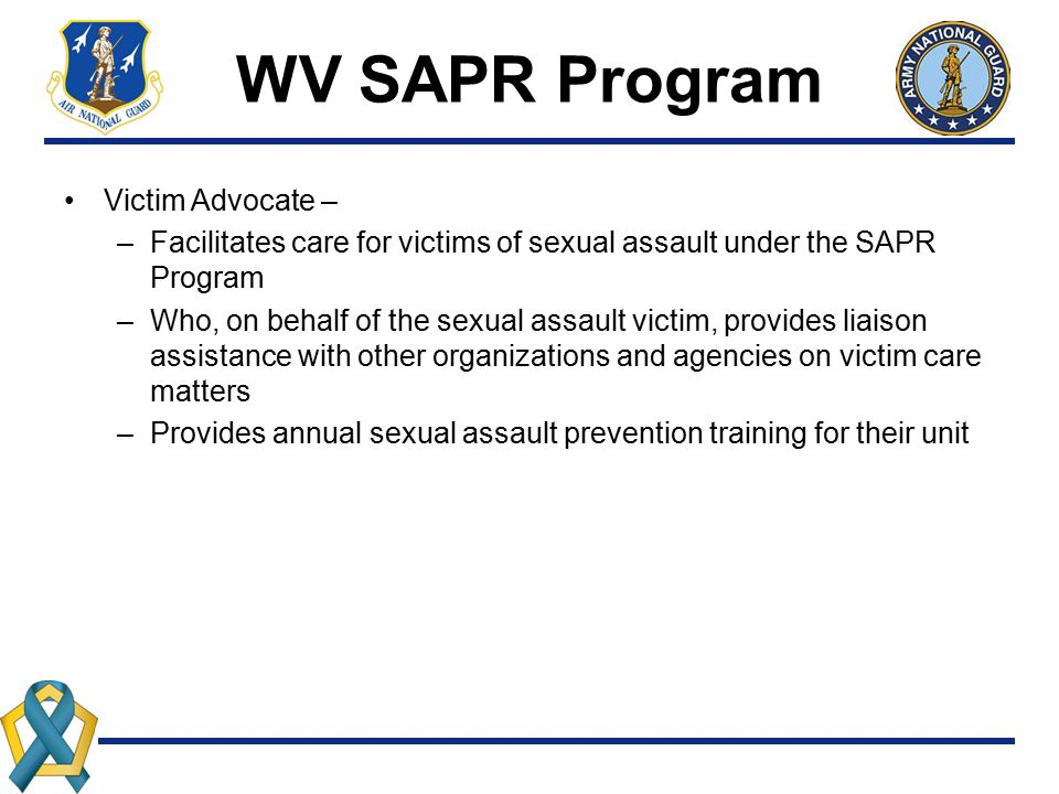 WV SAPR Program Victim Advocate –