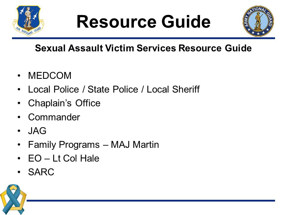 Sexual Assault Victim Services Resource Guide