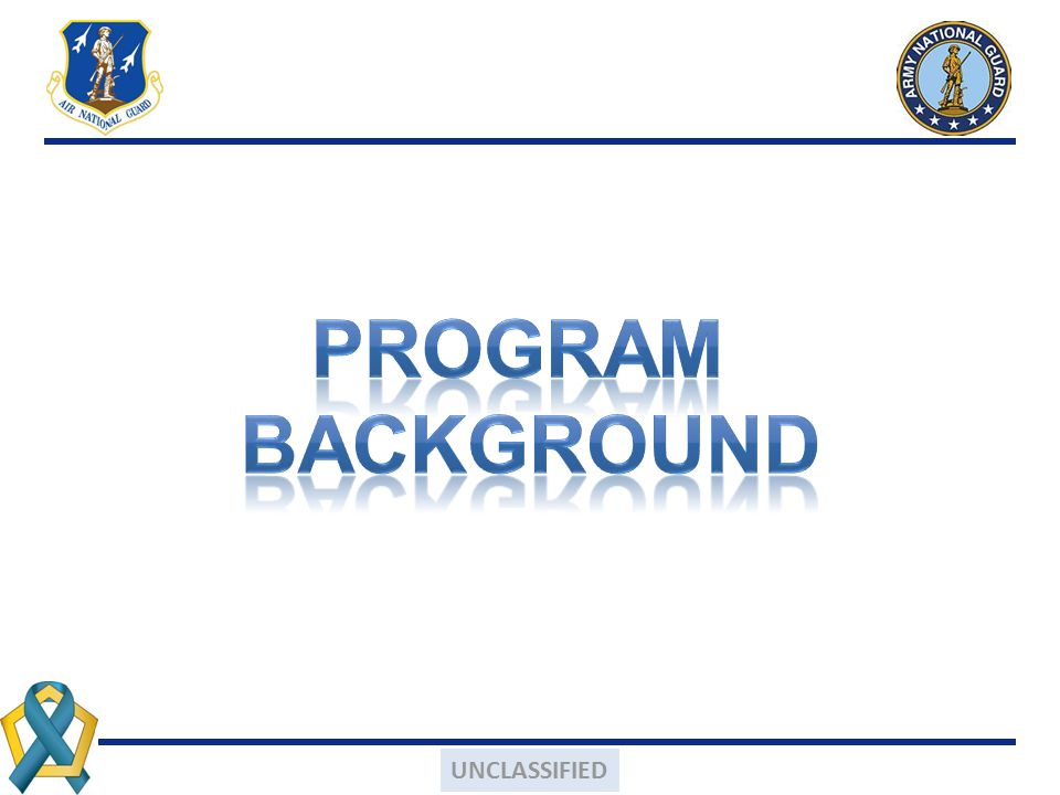 PROGRAM Background UNCLASSIFIED