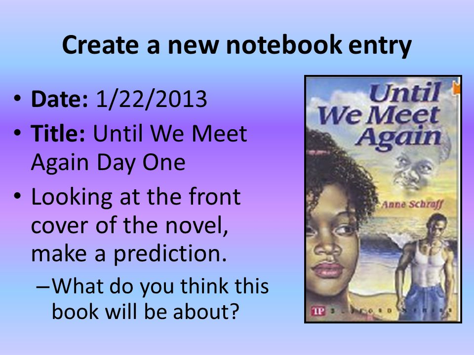 Create a new notebook entry
