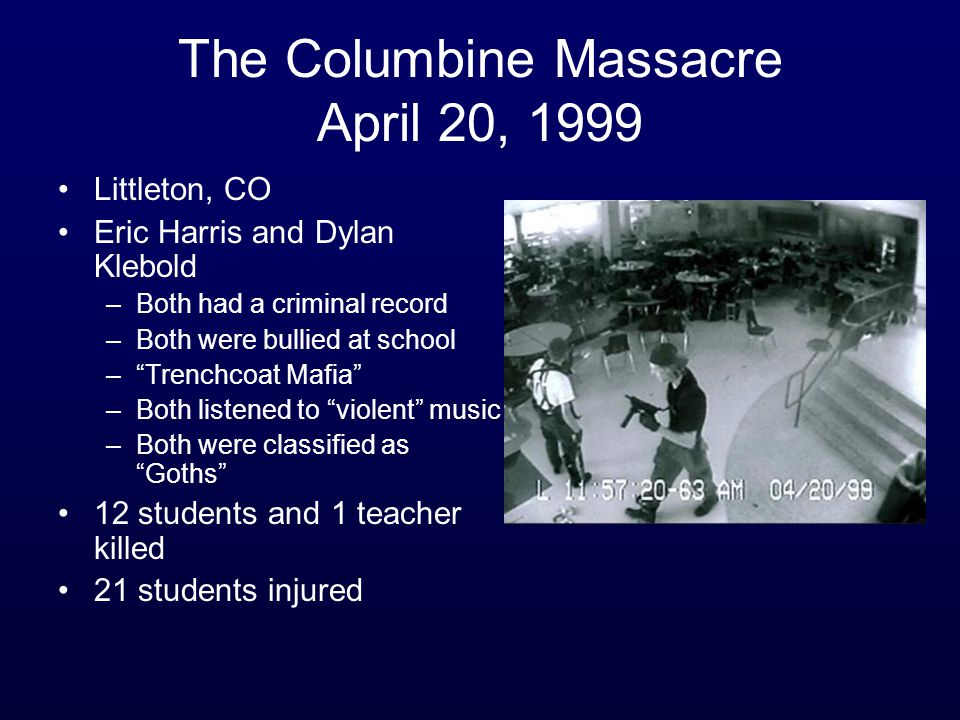 The Columbine Massacre April 20, 1999