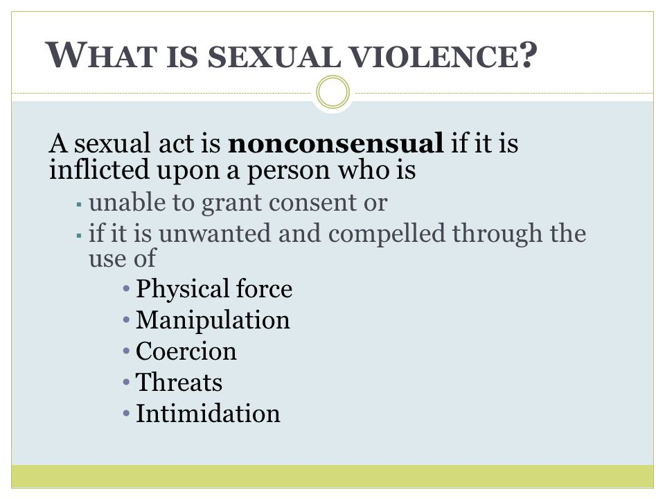 What is sexual violence
