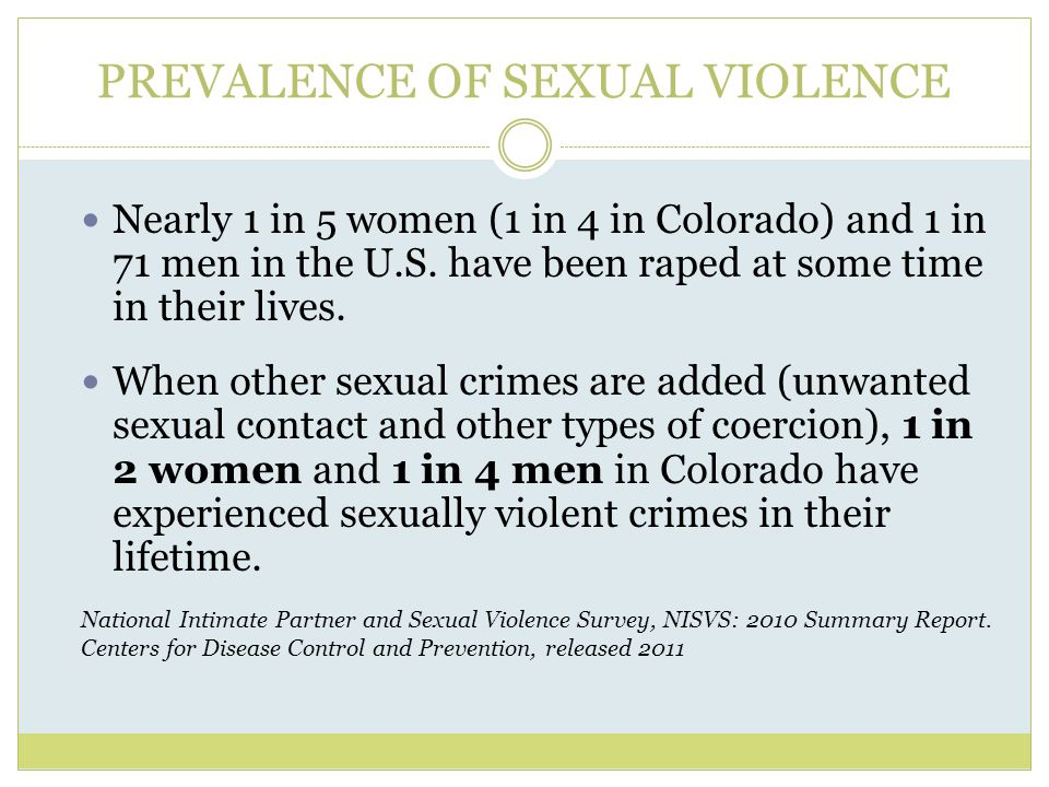 PREVALENCE OF SEXUAL VIOLENCE