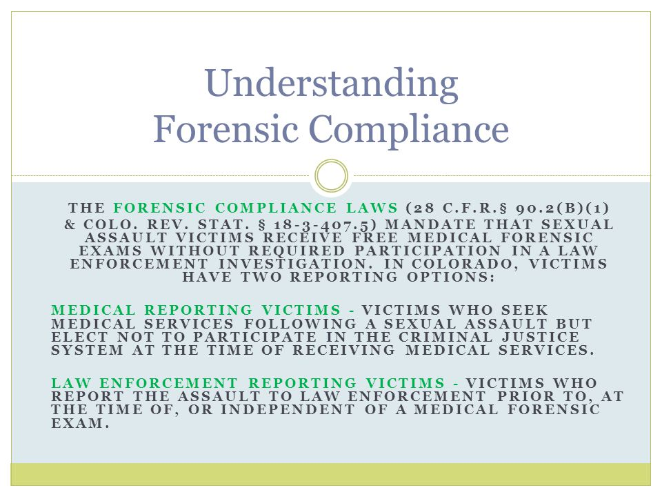 Understanding Forensic Compliance