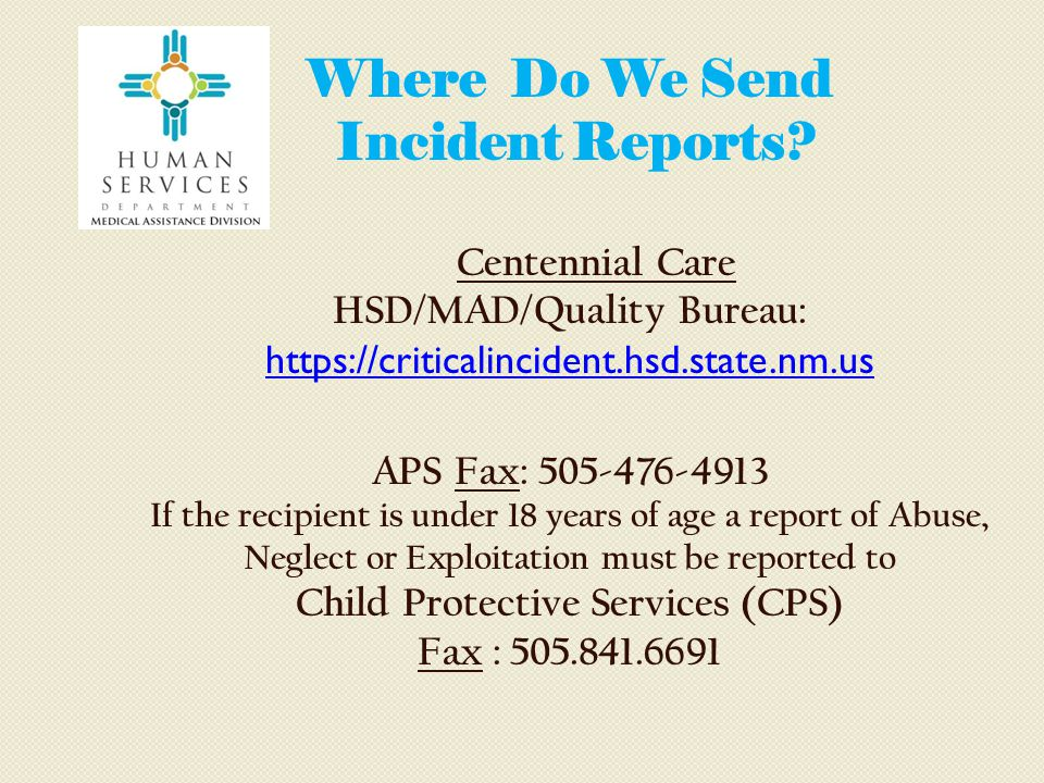HSD/MAD/Quality Bureau: Child Protective Services (CPS)