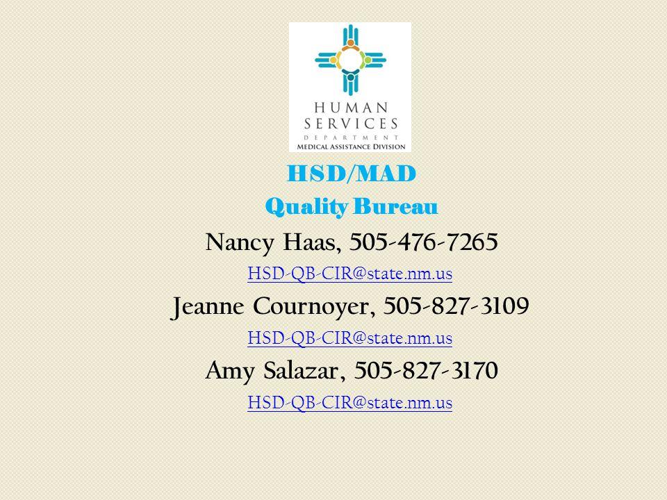Nancy Haas, 505-476-7265 Jeanne Cournoyer, 505-827-3109