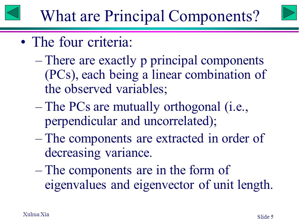 What are Principal Components
