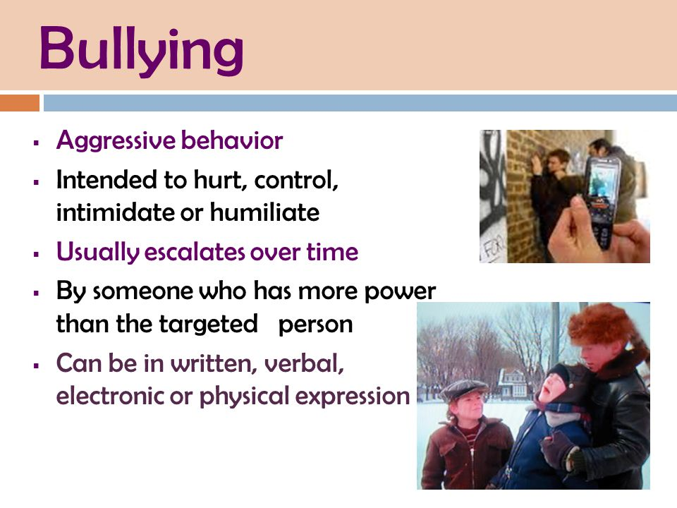 Bullying Aggressive behavior