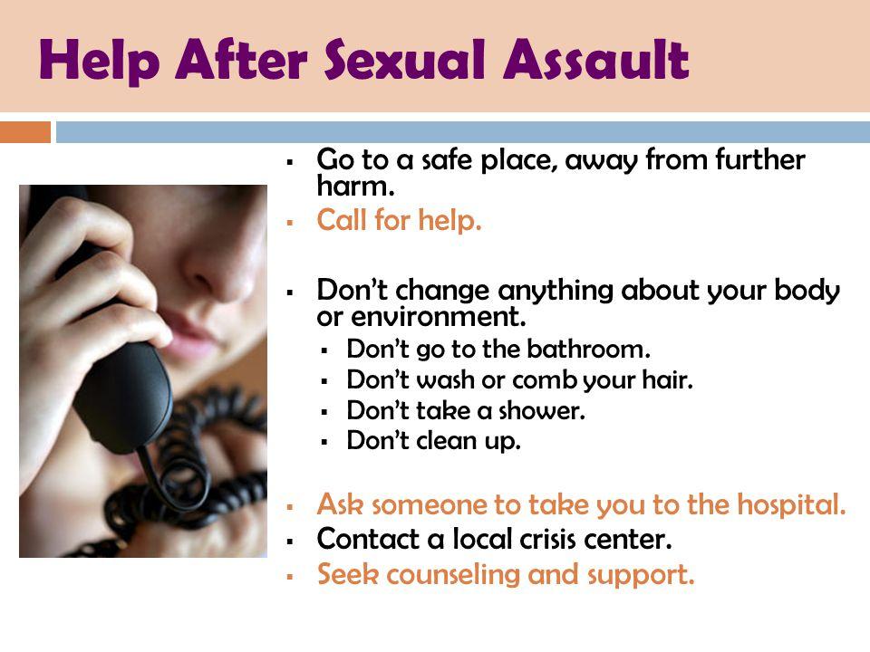 Help After Sexual Assault