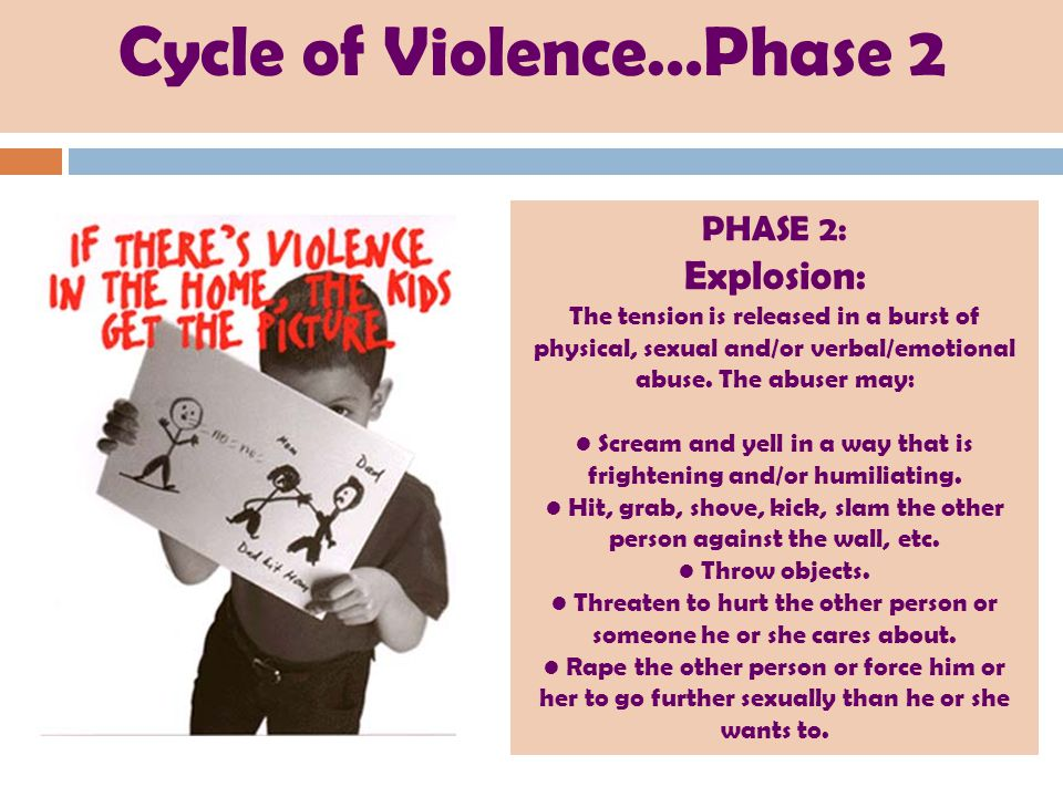 Cycle of Violence…Phase 2