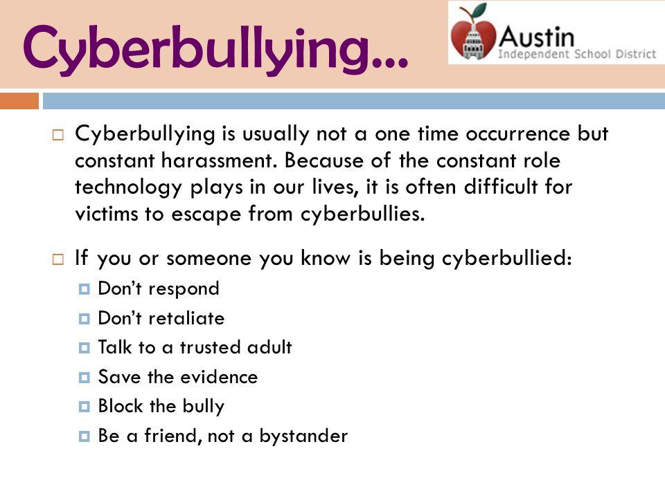 Cyberbullying…