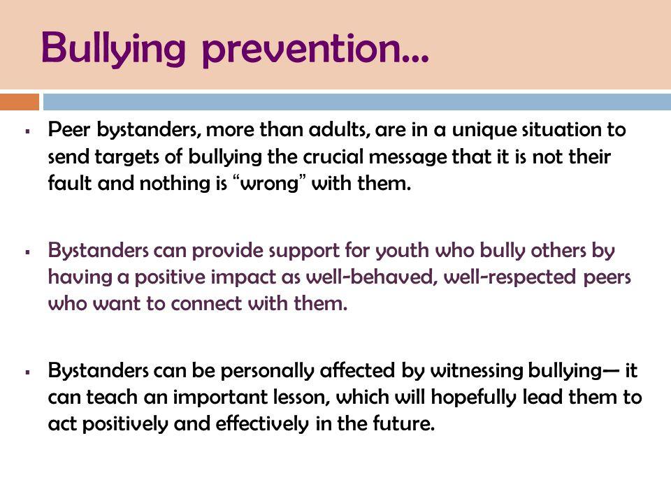 Bullying prevention…