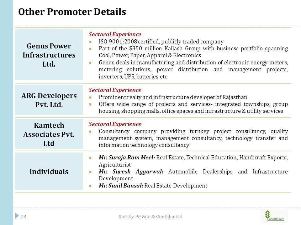 Other Promoter Details