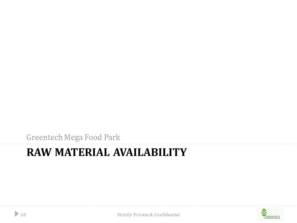 Raw material availability