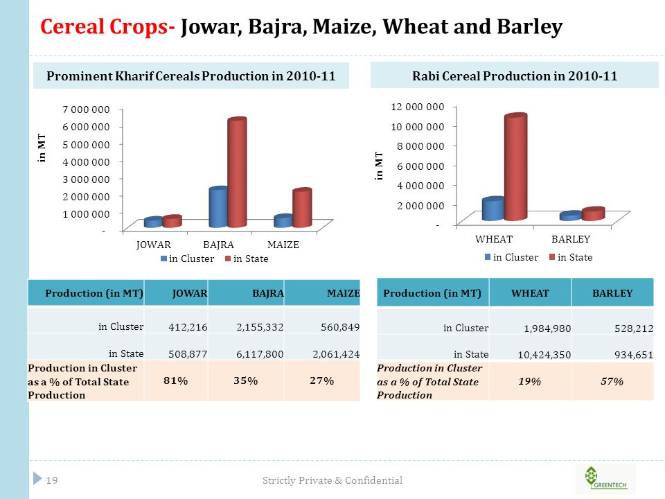 Cereal Crops- Jowar, Bajra, Maize, Wheat and Barley