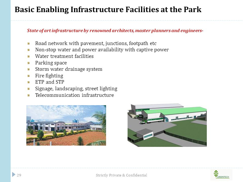 Basic Enabling Infrastructure Facilities at the Park
