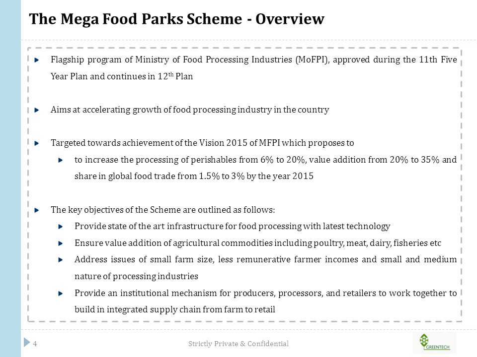 The Mega Food Parks Scheme - Overview