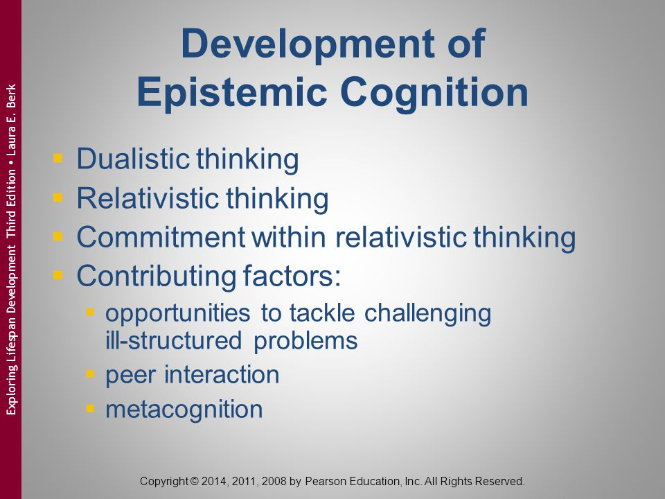 Development of Epistemic Cognition