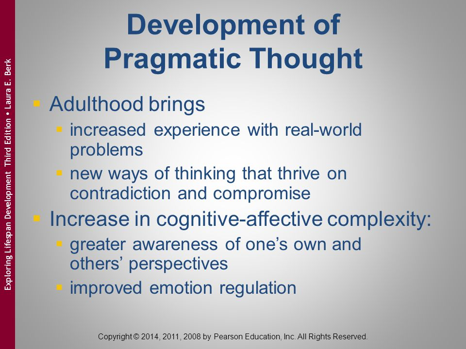 Development of Pragmatic Thought