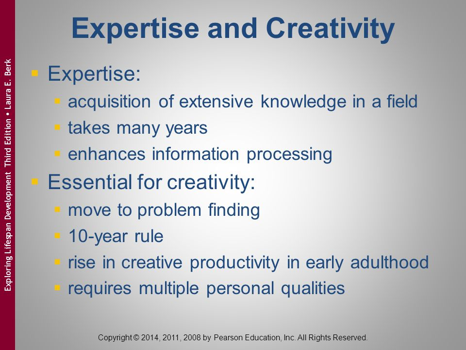 Expertise and Creativity