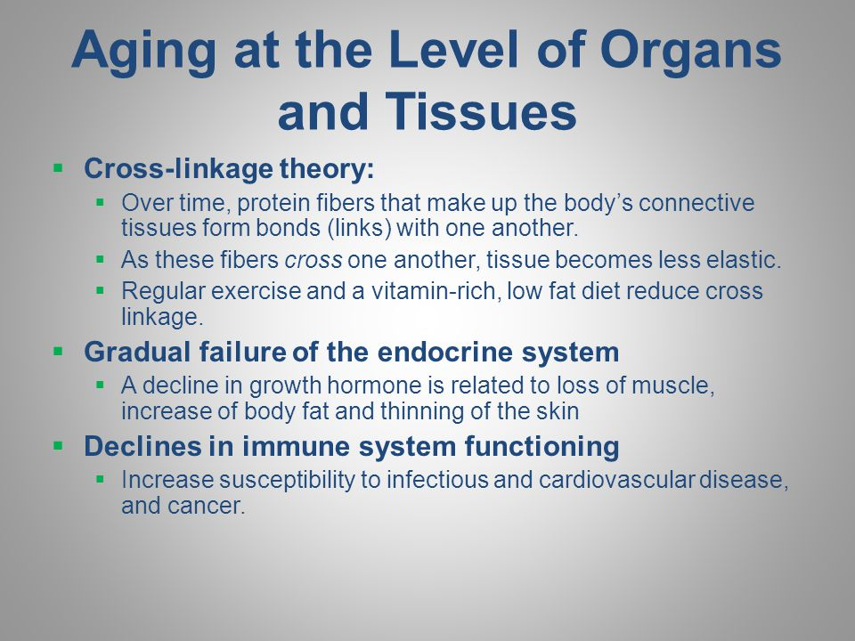 Aging at the Level of Organs and Tissues