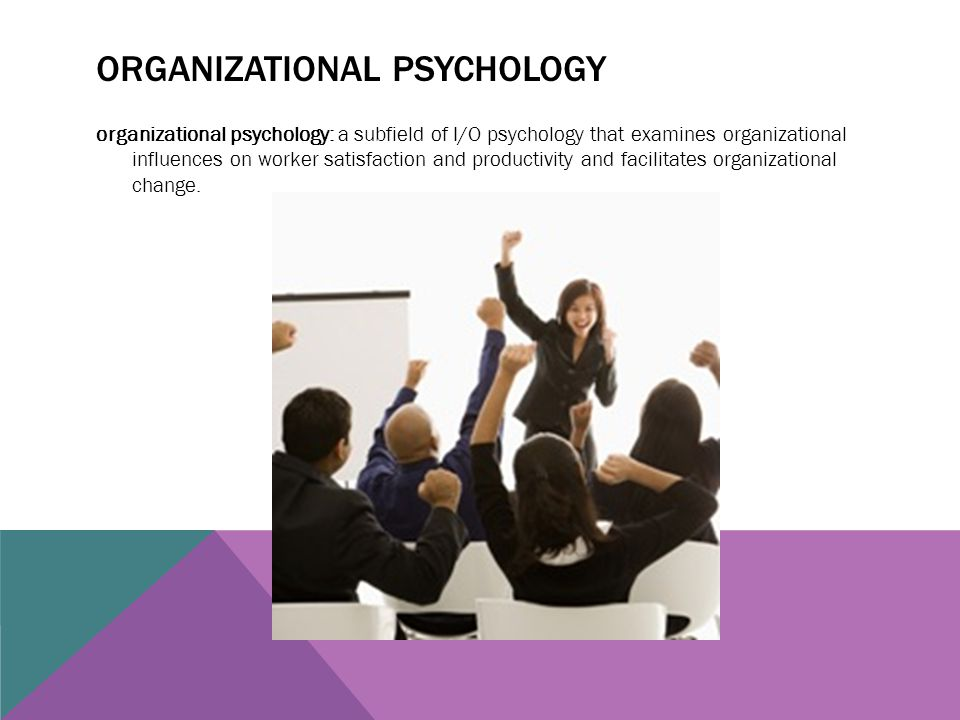 Organizational psychology