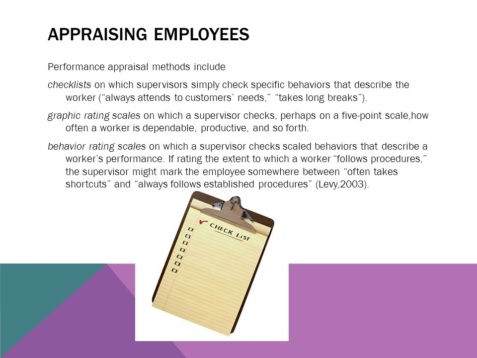 Appraising employees