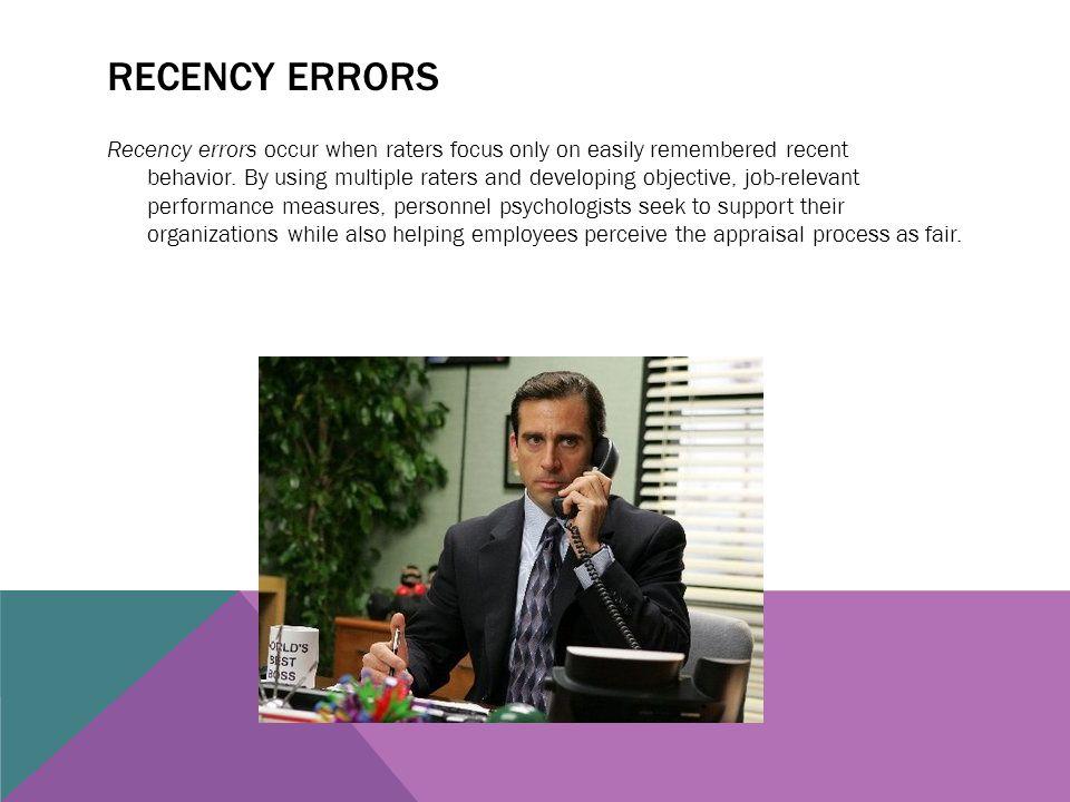Recency errors