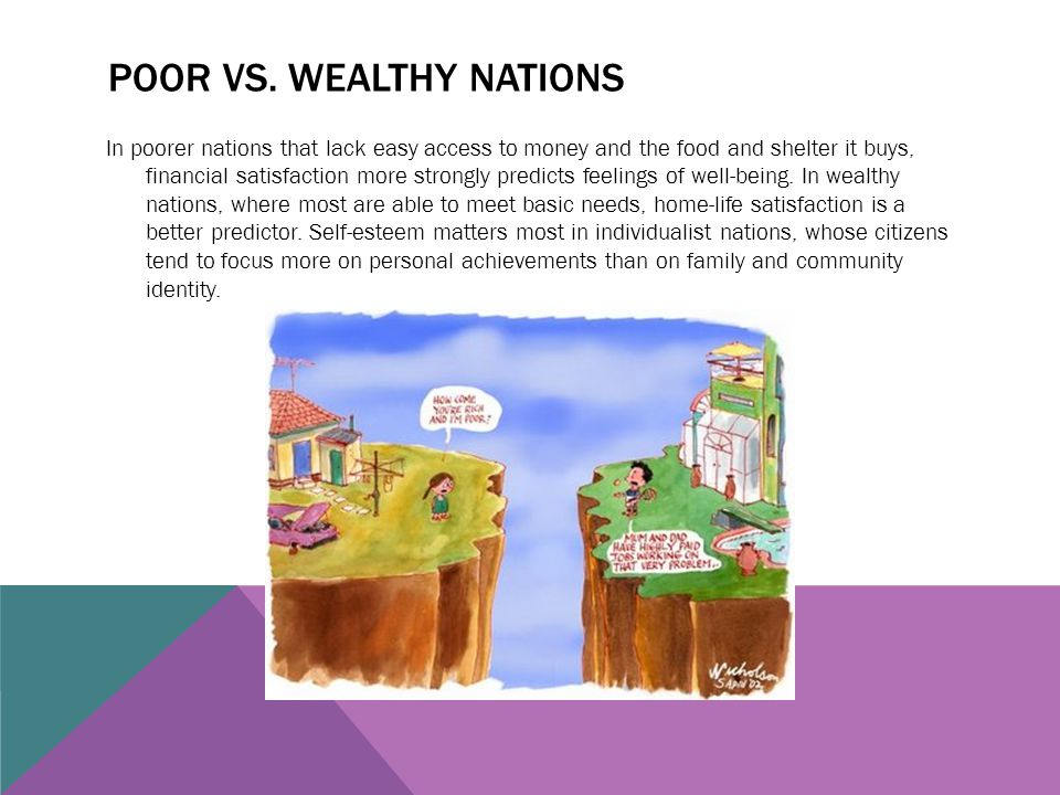 Poor vs. wealthy nations