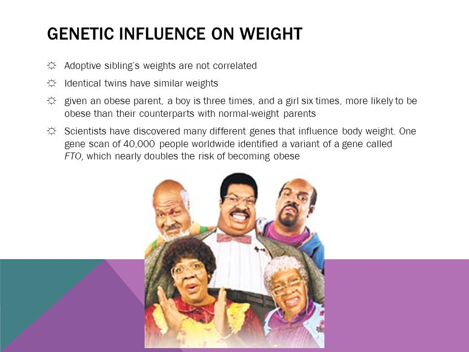 Genetic influence on weight