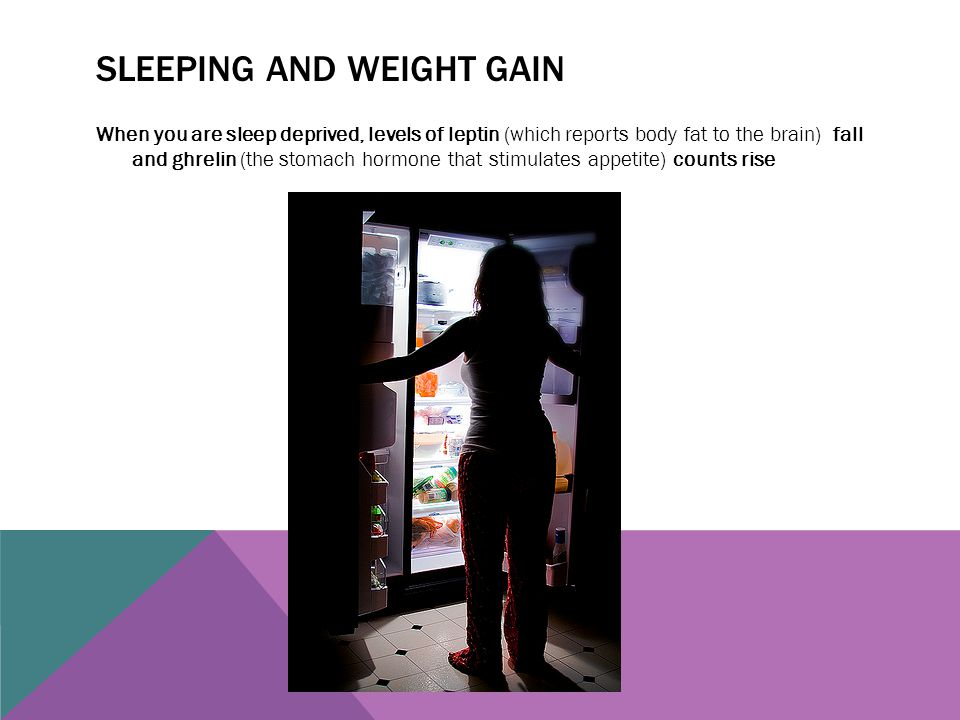 Sleeping and weight gain