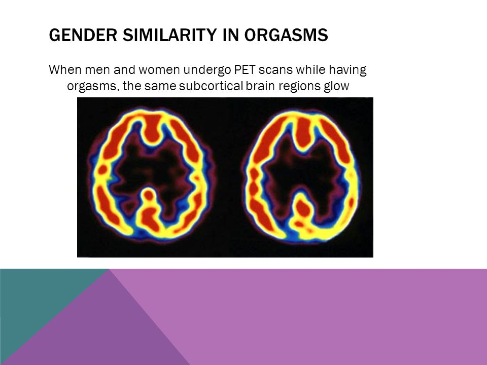 Gender similarity in orgasms