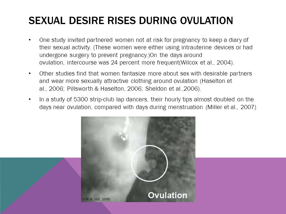 Sexual desire rises during ovulation