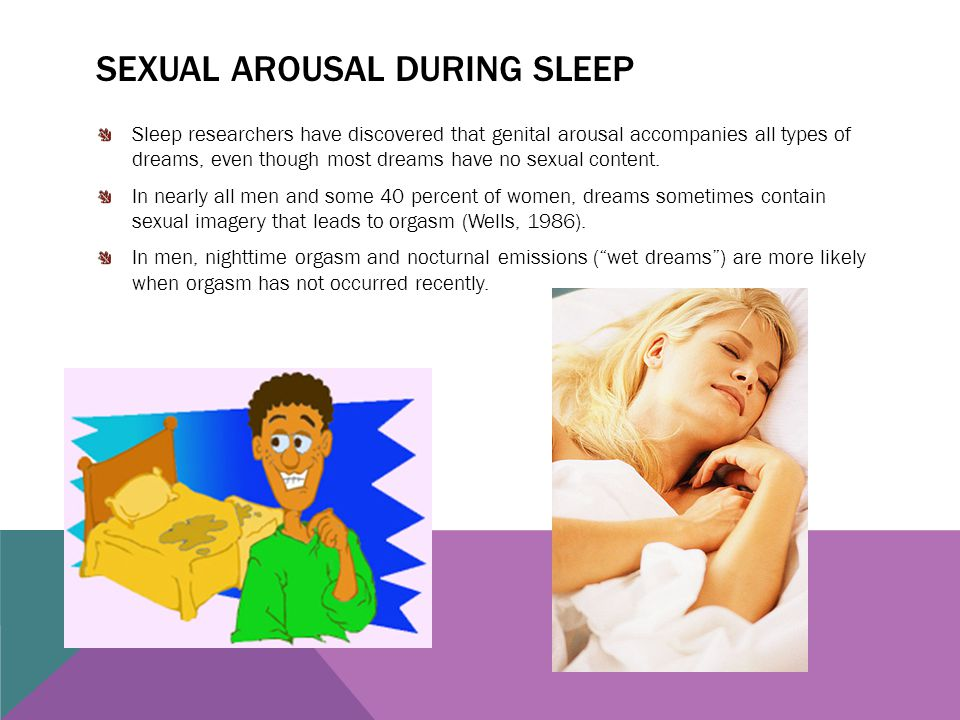 Sexual arousal during sleep