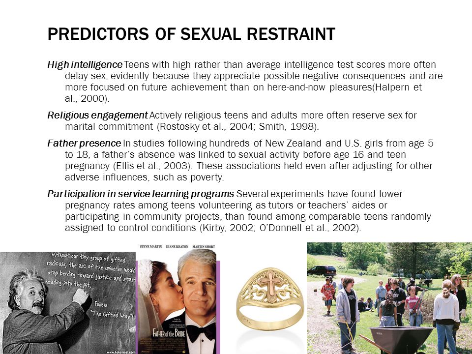 Predictors of Sexual restraint