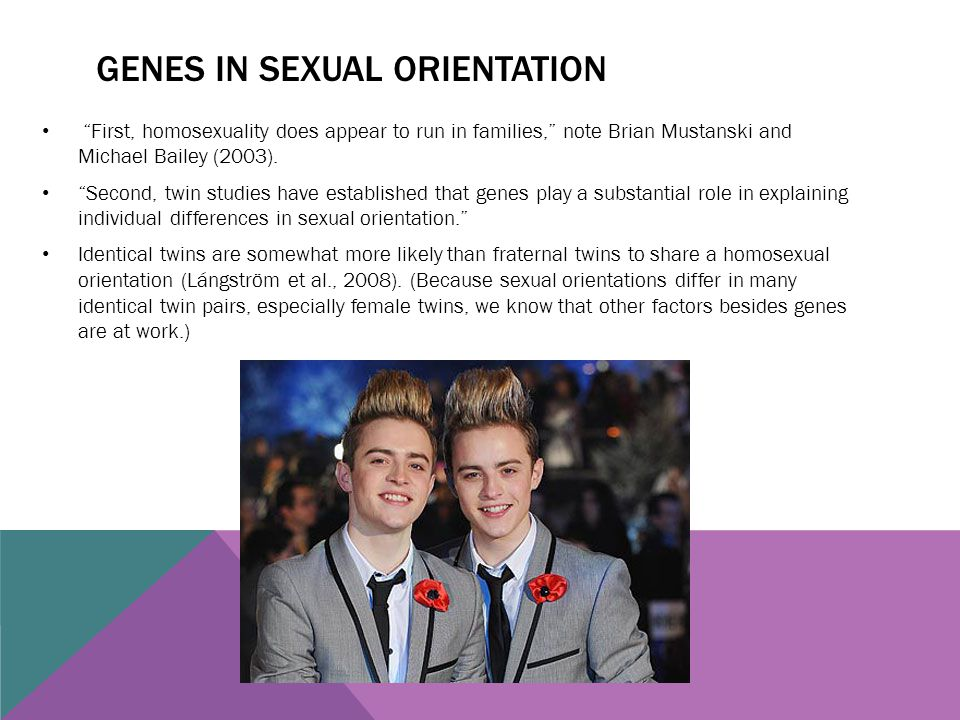 Genes in sexual orientation