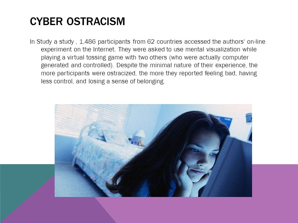 Cyber ostracism