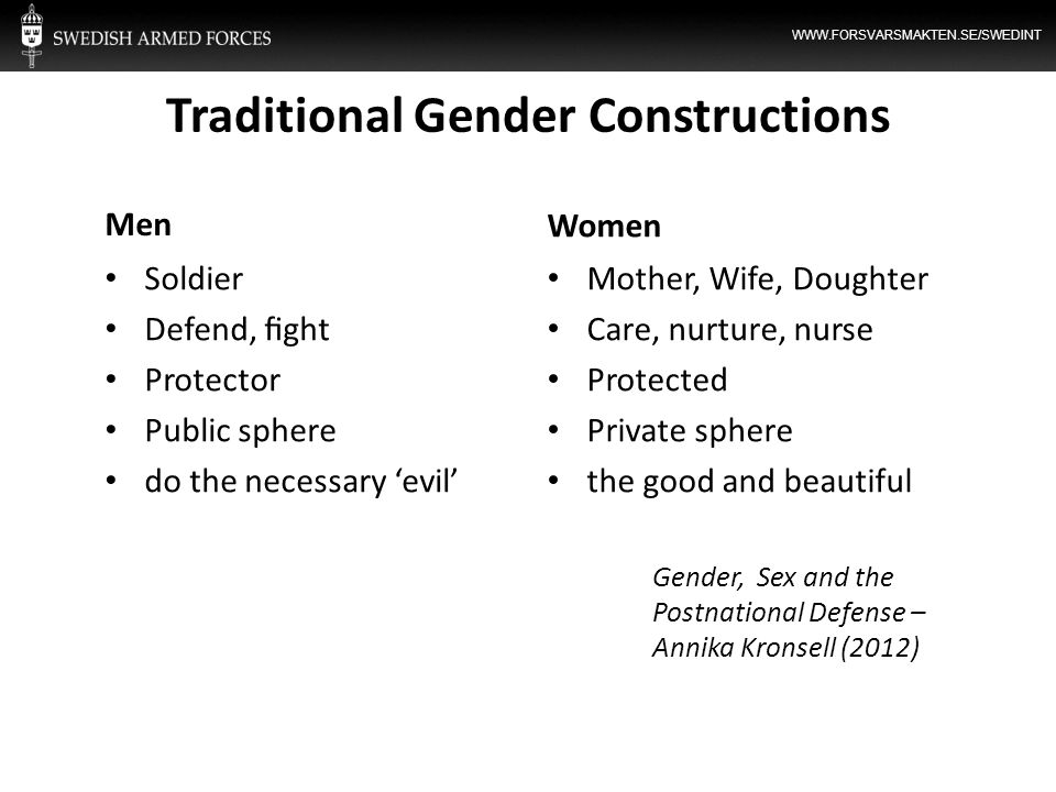 Traditional Gender Constructions