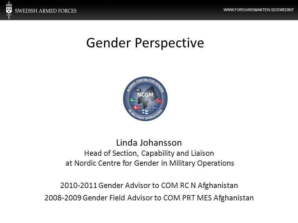 Gender Perspective Linda Johansson