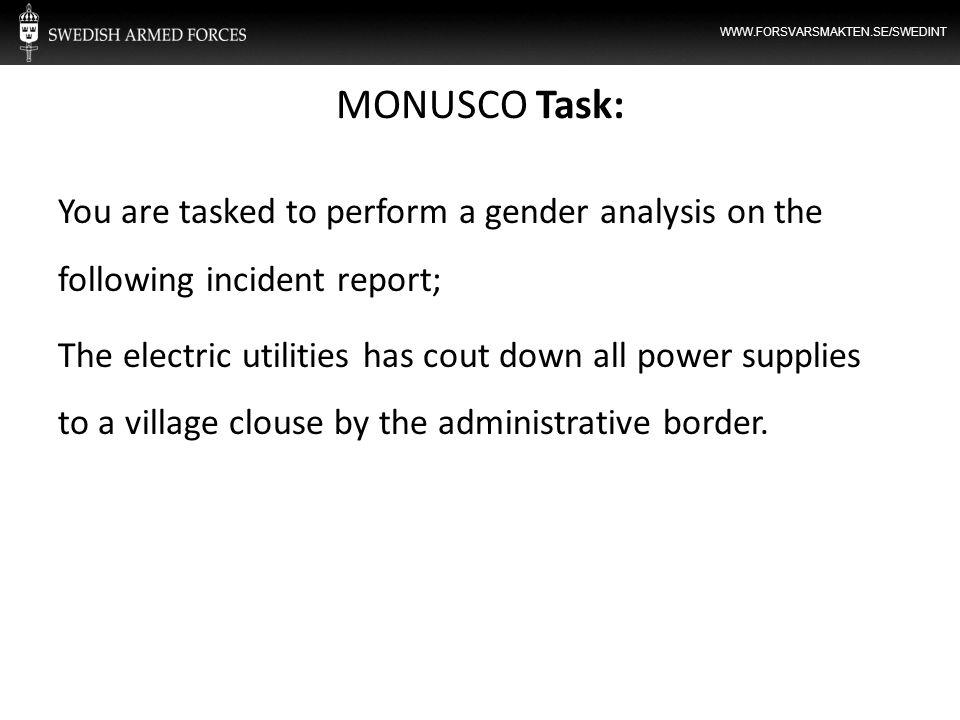 MONUSCO Task: