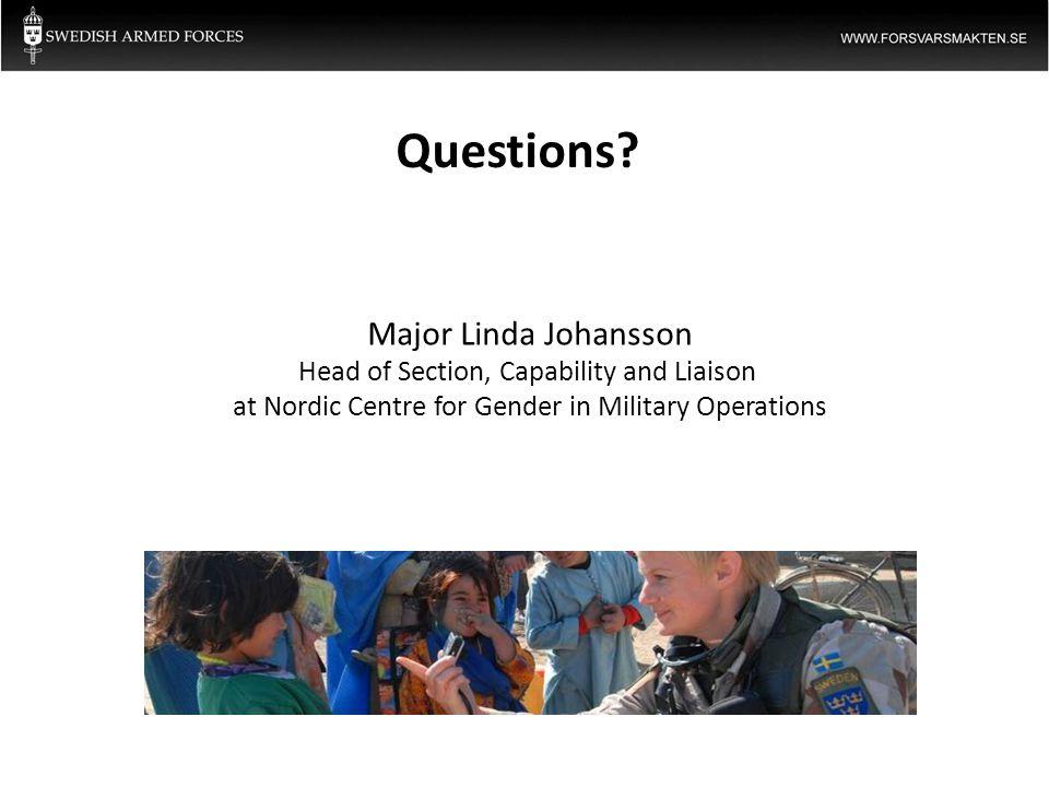 Questions Major Linda Johansson