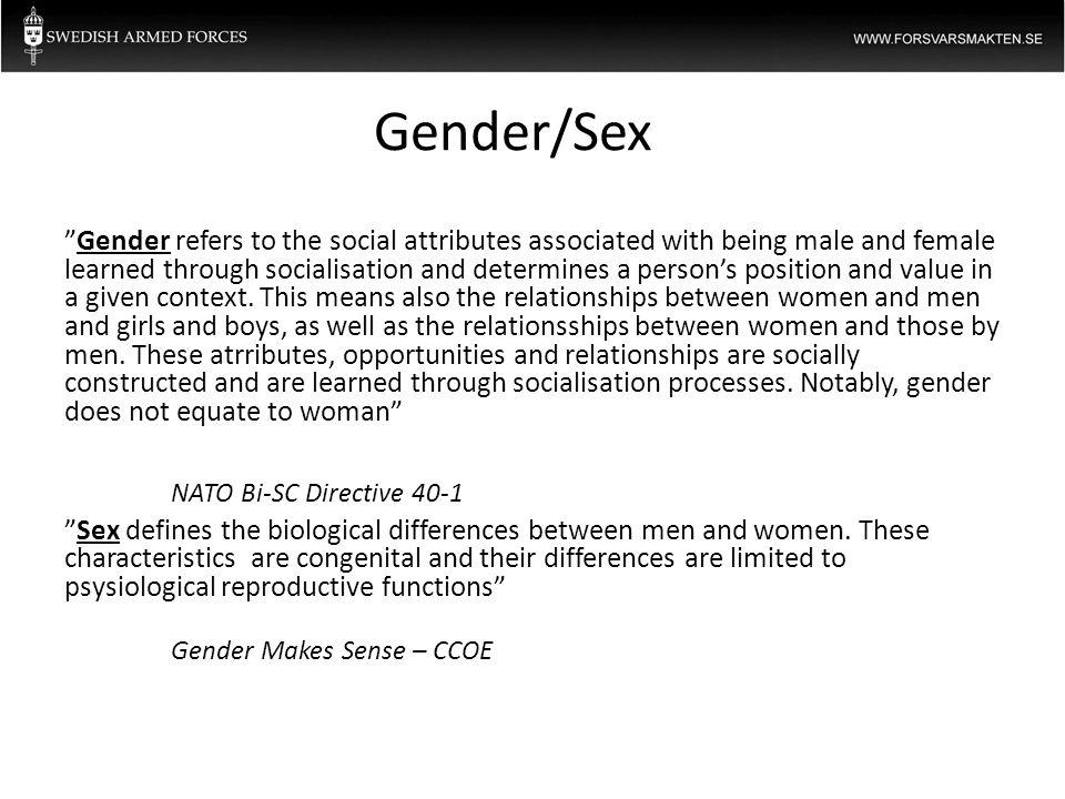 Gender/Sex NATO Bi-SC Directive 40-1
