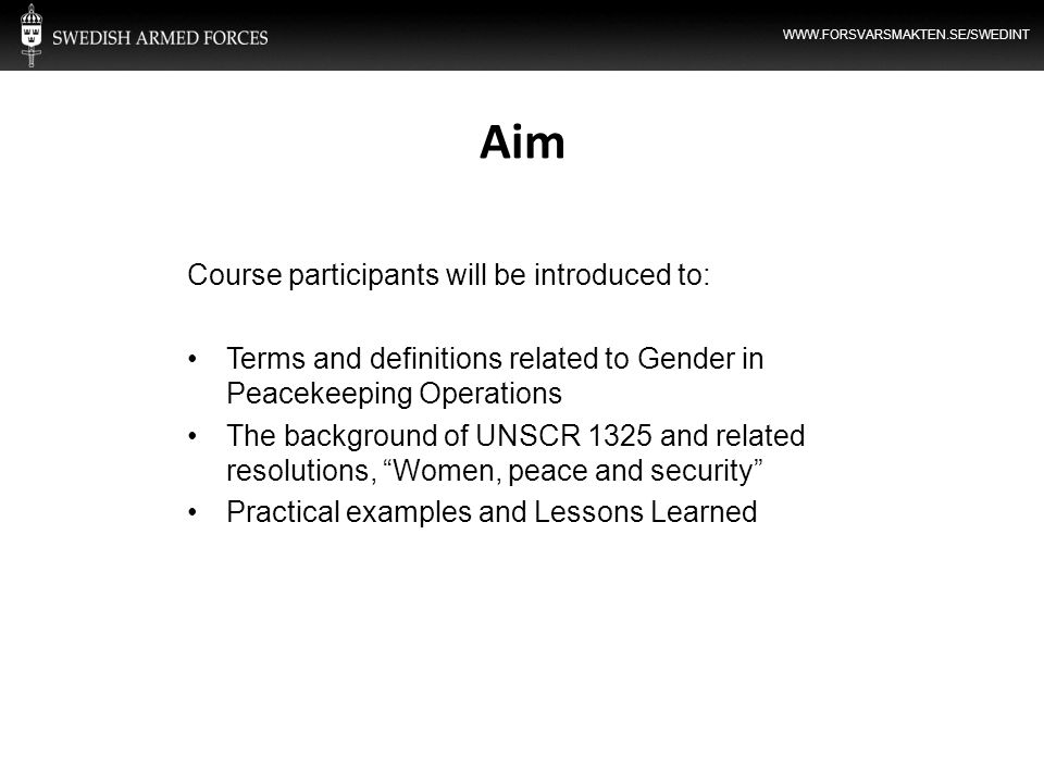 Aim Course participants will be introduced to: