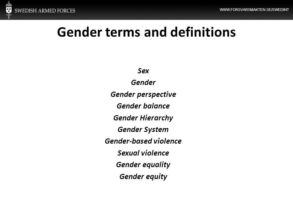 Gender terms and definitions