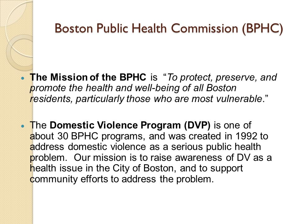 Boston Public Health Commission (BPHC)