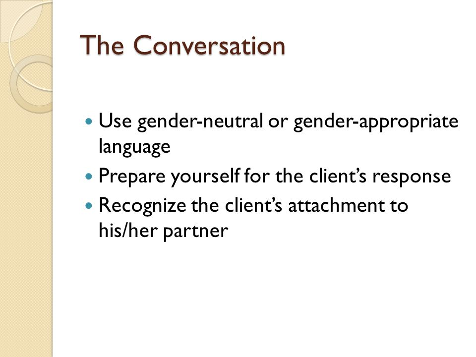 The Conversation Use gender-neutral or gender-appropriate language