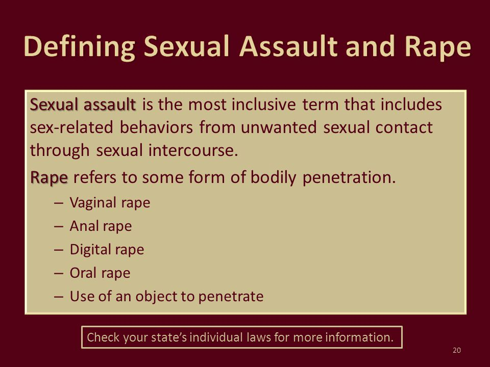 Defining Sexual Assault and Rape