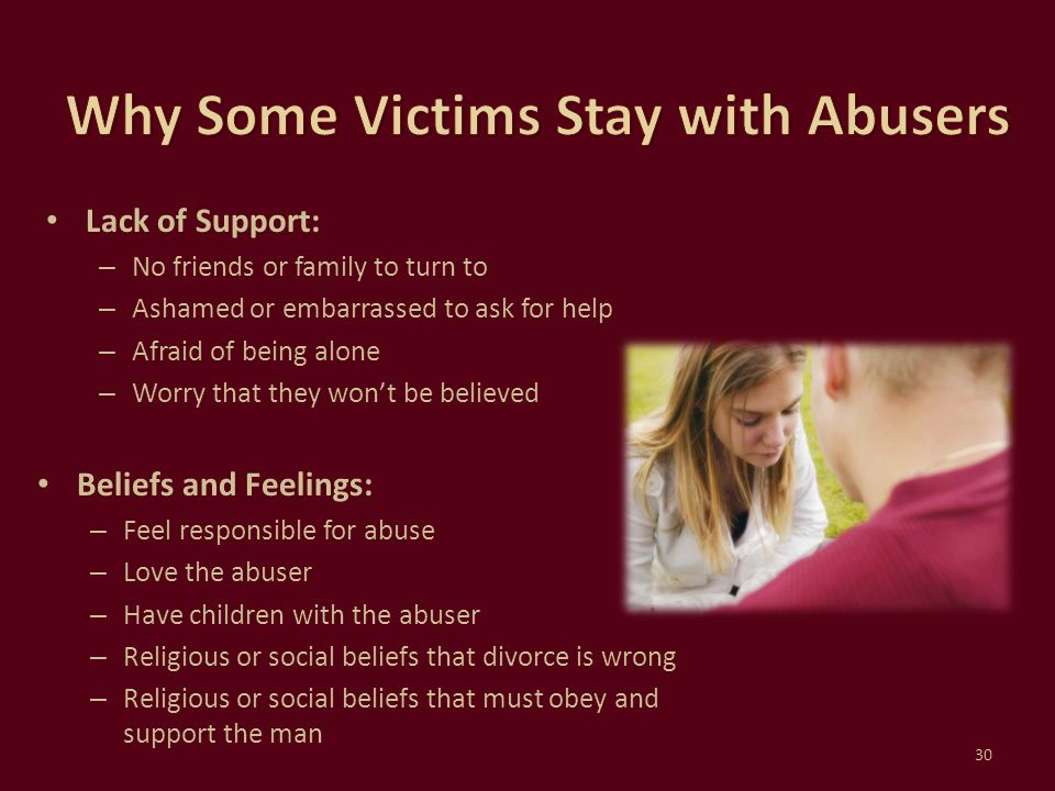 Why Some Victims Stay with Abusers