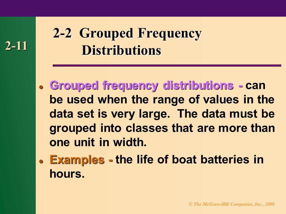 2-2 Grouped Frequency Distributions