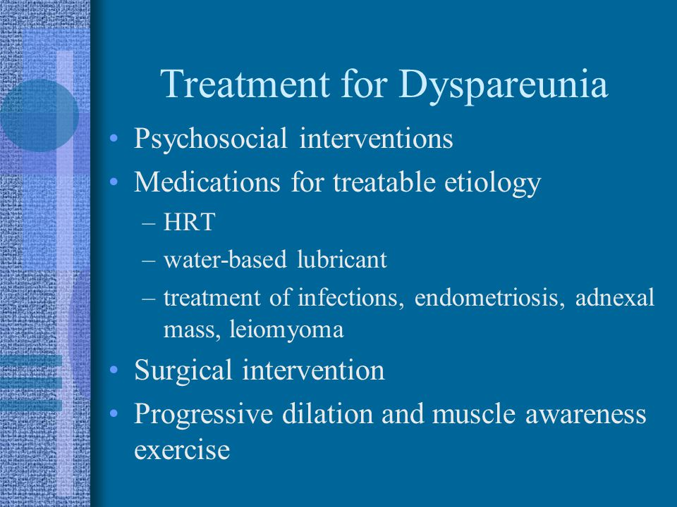 Treatment for Dyspareunia